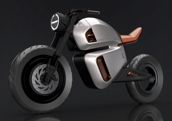 Futurist electric motorcycle: Nawa Racer in CES 2020